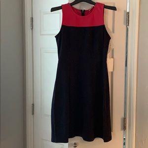 Lucinda color lock knit dress